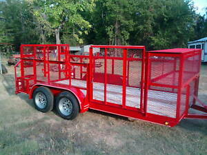 New 2019 77 X 16 Professional Landscape Utility Mower Grass Trailer