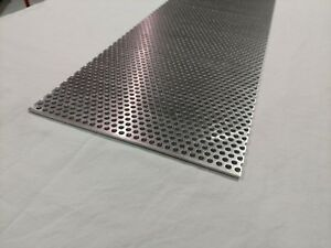 Perforated Metal Aluminum Sheet 125 1 8 Gauge 24 X 24 1 4 Hole 3 8 Stagger