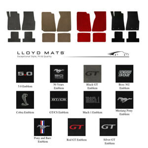 Lloyd Mats Mustang Heavy Plush 4 pieces Floor Mats All Models