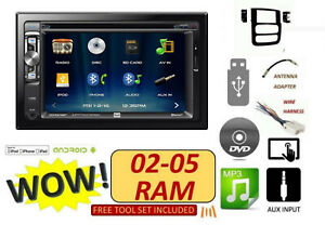 02 03 04 05 Dodge Ram Cd Dvd Bluetooth Usb Touchscreen Stereo Radio Combo