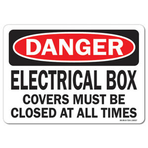 Osha Danger Sign Electrical Box made In The Usa
