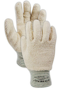 Wells Lamont 765 Heavyweight White Terrycloth Gloves Medium 12 Pack