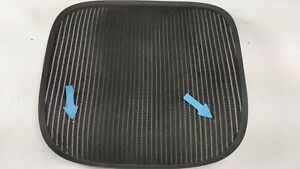Herman Miller Aeron Chair Seat Mesh Black Pellicle W Blemish Size B Medium 69