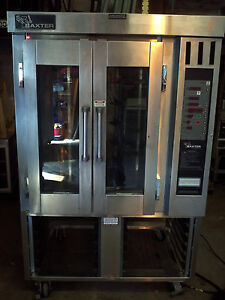 Baxter Ov300e Mini Rotating Rack Convection Oven With Stand Electric