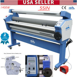 Qomolangma 1400mm 55in Full auto Wide Format Cold Laminator With Heat Assisted