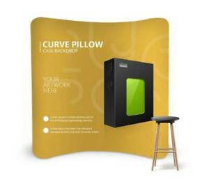 10ft Custom Curved Backdrop Single Sided Trade Show Pop Up Display Booth Stand
