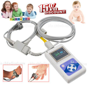 Neonatal infant child Spo2 Blood Oxygen Monitor Oled Pc Software Bundled Probe