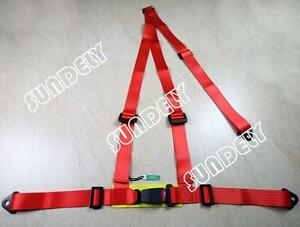 Uk Sundely Red 3 Point Racing Seat Belt Harness For Car track Day off Road Buggy