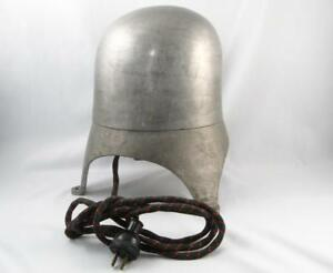 Old Electric Aluminum Millinery Hat Mold Form Block Stretcher Size 22