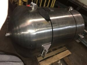 H k Inc Pressure Tank Approx 400 Gallon Stainless Steel Rated 100psi At 200 D