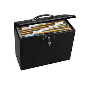 Portable File Box Locking Folder Storage Security Metal Steel Office Desktop