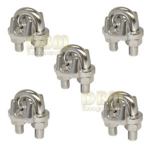 5 Marine Industrial 3 8 Wire Clip Rope Clamp Stainless Steel Cable Rigging Boat