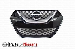 Nissan 2016 2018 Maxima Platinum Front Grille With Camera Emblem 62310 4ra0b