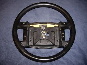 1990 1993 Ford Mustang Gt Lx Black Leather Steering Wheel W Cruise Control