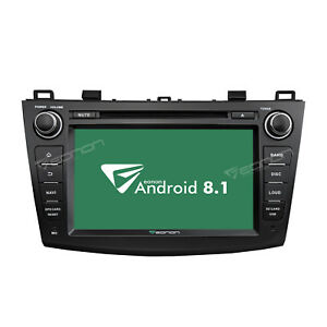 Android 8 1 8 Car Radio Gps Navigation Dvd Player Stereo For Mazda 3 2010 13 Bk