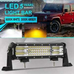12 Inch 1176w Quad Row Led Light Bar Spot Flood Boat Offroad Atv Truck 4wd 14