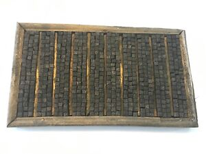 Vintage Chinese Wooden Letterpress Printing Type