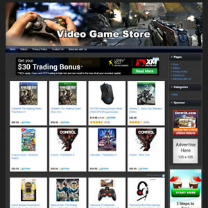 Video Game Store Online Business Website For Sale Affiliate Make Money At Home