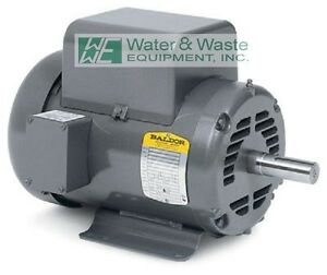 L1430t 5hp 1725 Rpm New Baldor Air Compressor Electric Motor Open Box Full Warr