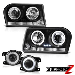 2009 2010 Chrysler 300 Touring Drl Led Angel Eye Headlights Glass Projector Fog