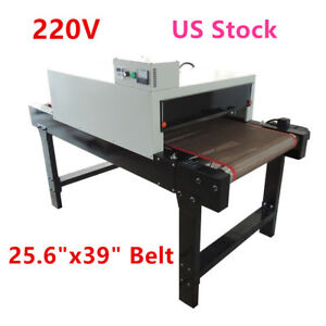 220v Small T shirt Conveyor Tunnel Dryer 25 6 x39 Belt For Screen Printing Us