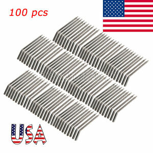 100x Autoclave Steel Syringe Nozzles Tubes For 3 way Dental Air Water Syringe