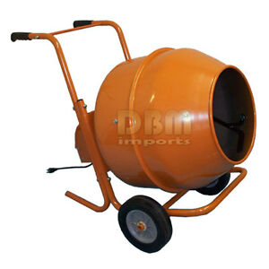 5 Cu Ft Horizontal Portable Wheel Barrow Cement Mixer Free Shipping