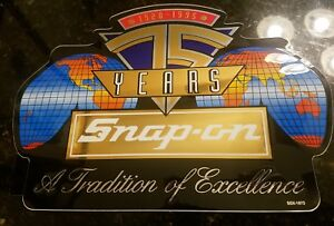 Vintage Snap On Tool Box Sticker Decal Man Cave 75th Ssx1878 Collector S Rare