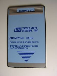 Tds Survey Sx Surveying Card For Use With The Hp 48gx sx
