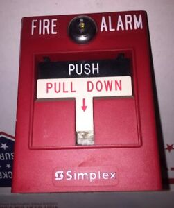 2 Simplex 4099 9003 Fire Alarm Pull Stations Addressable
