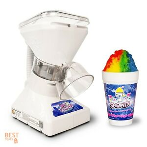 Shaved Ice Cream Maker Hawaiian Premium Snow Cone Machine Dispenser Syrup Snowie