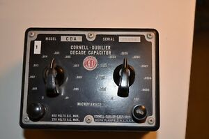 Cornell dubilier Decade Capacitor Cda Free Shipping