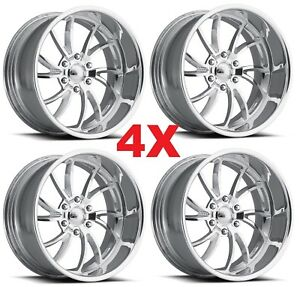 24 Pro Wheels Twisted Ss 6 Custom Forged Billet Rims Intro Line Foose Staggered