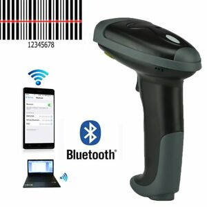 Bluetooth Wireless Barcode Scanner Reader Handheld Lase Cordless For Pc Phones