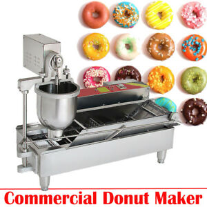 Commercial Electric Automatic Doughnut Donut Machine Unit Donut Maker 3size Mold