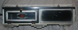 Vintage Antiseptic Sterilizer Counter Cabinet Case Glass Full View