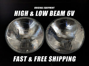 Oe Front Halogen Headlight Bulb For Cadillac 6 Volt High Low Beam