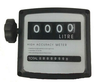 4 Digital Diesel Fuel Oil Flow Meter Counter With Iron Fitting Accuracy 1