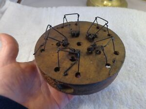 Old Antique 5 Hole Wood Metal Rare Mouse Trap Unique Collectible Traps Works