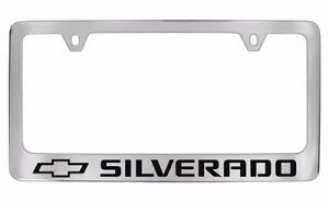 Chevrolet Silverado Chrome Metal License Plate Frame