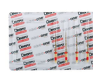 Waveone Gold Wave One Primary Red Endodontic File Root Canal Dentsply 4 Pkg 25mm