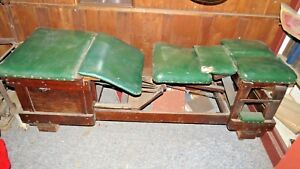 Antique 1910 1929 Vintage Chiropractic Table Industrial Mission Antique