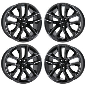 20 Ford Mustang Gt Black Chrome Wheels Rims Factory Oem Set 10039 Exchange