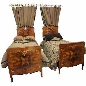Early 20th C Louis Xv Style Twin Bedroom Sets