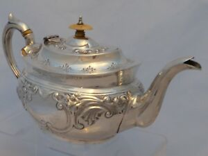 Sterling Silver Teapot For Restoration Birmingham 1906 503g