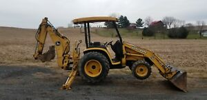 John Deere 110 Backhoe Diesel 4x4 Great Condition Original Paint And Decals