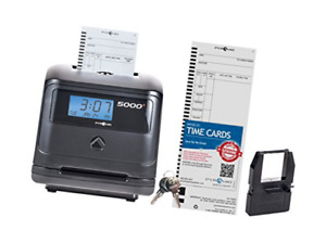 Pyramid 5000 Auto Totaling Time Clock 100 Employees Made In Usa Black