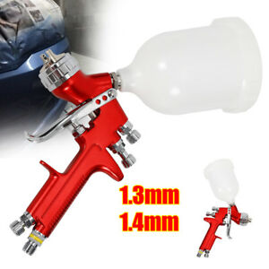 Pro Hvlp Car Spray Gun Kit With 600cc Gravity Feed Cup 1 3mm 1 4mm Nozzle 600ml