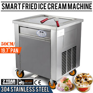 Smart Fried Ice Cream Machine Roll Maker With Control Pan 304 Stainless Steel