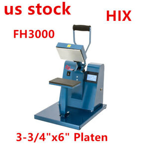 Us Hix 3 3 4 x6 Platen Fh3000 Digital Manual Flathead Small Format Heat Press